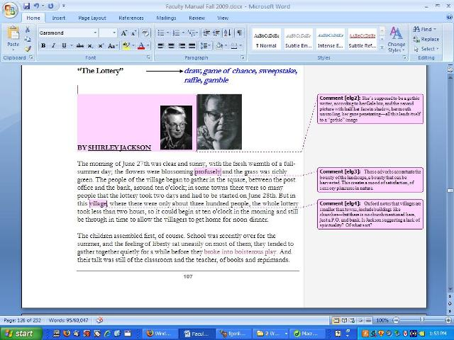 annotate word document with stylus