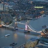 London Tower Bridge Sky View