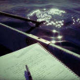 Pen and water