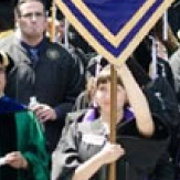 Shelby Handler and other commencement gonfalonieres