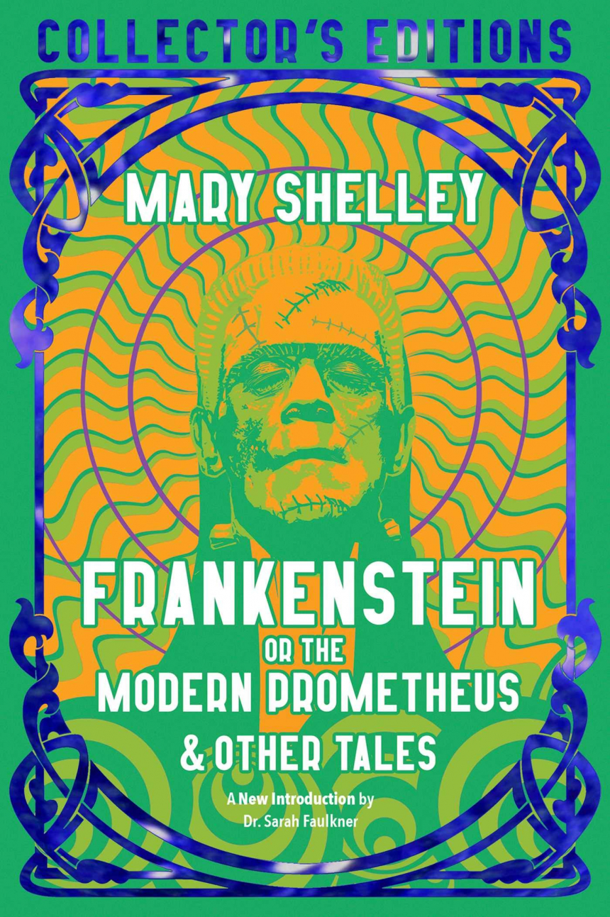 Cover of Flame Tree Publishing's edition of Frankenstein