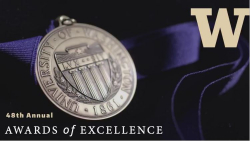 medallion engraved with UW seal