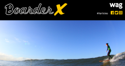 Header for BoarderX exhibit with author photo
