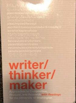 writer, thinker, maker cover
