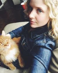 Sarah with cat