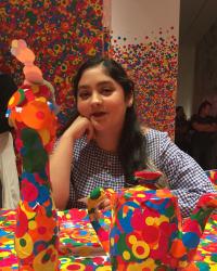 Jasmine Khaliq at Yayoi Kusama's Infinity Mirrors